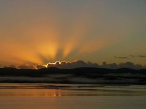 Sunrise in Mallacoota from Adobe Holiday Flats
